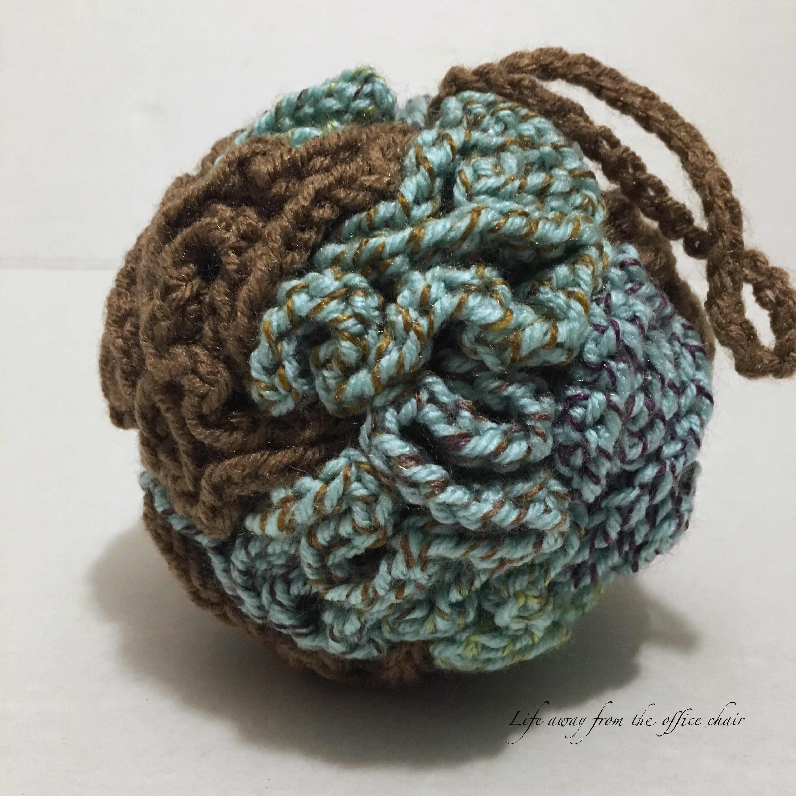 Crochet Bath Pouf | Crochet patterns, Crochet, Knit or crochet