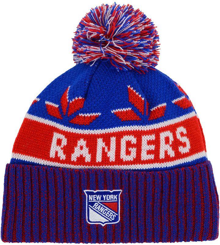 40f78e2f1ba218 Old Time Hockey Old Time Hockey New York Rangers Dasher Pom Knit Hat. https: