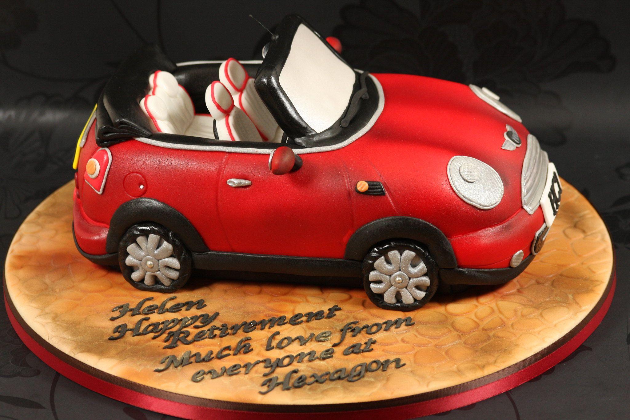 Red Mini Convertible Cake side view -   13 cake Mini cooper ideas