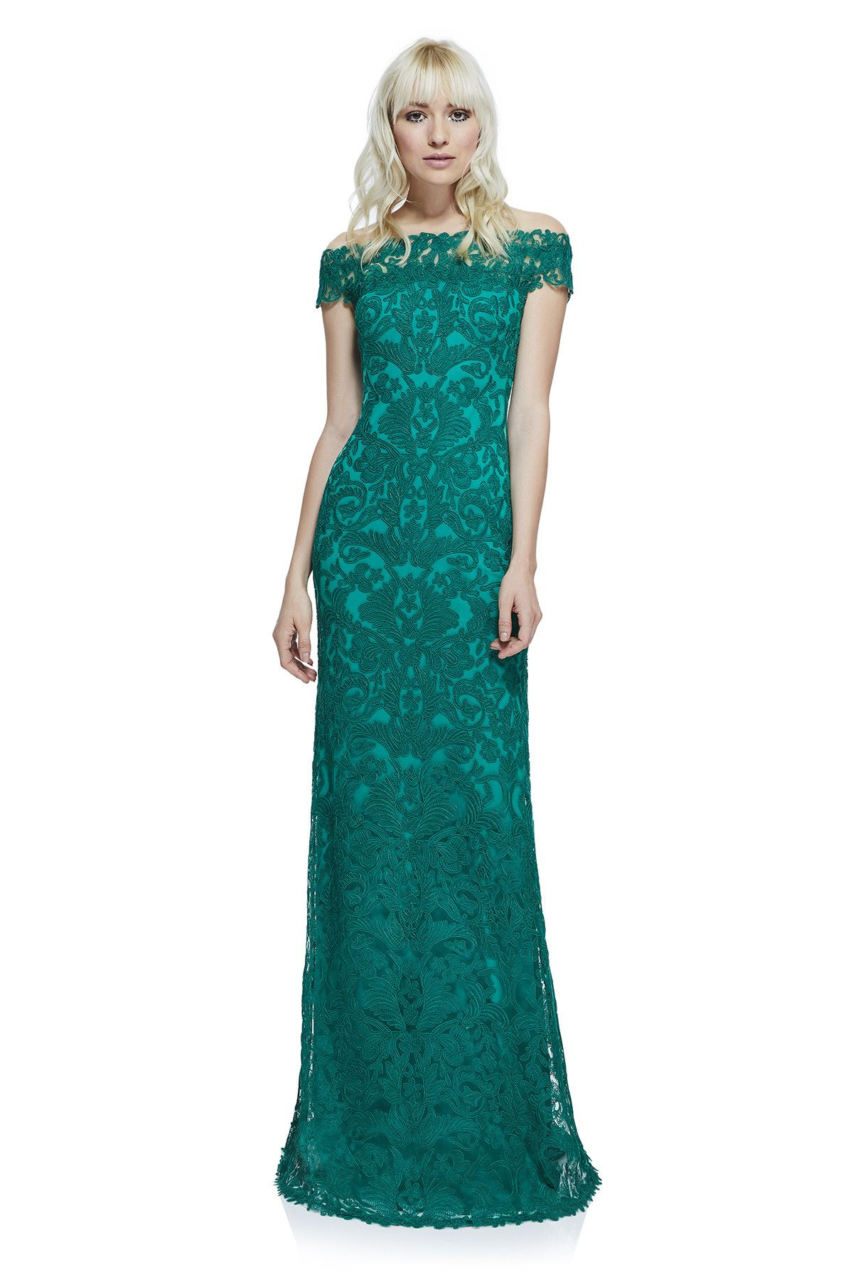 Tadashi Shoji - Dupre Off-The-Shoulder Gown | Gowns | Pinterest ...