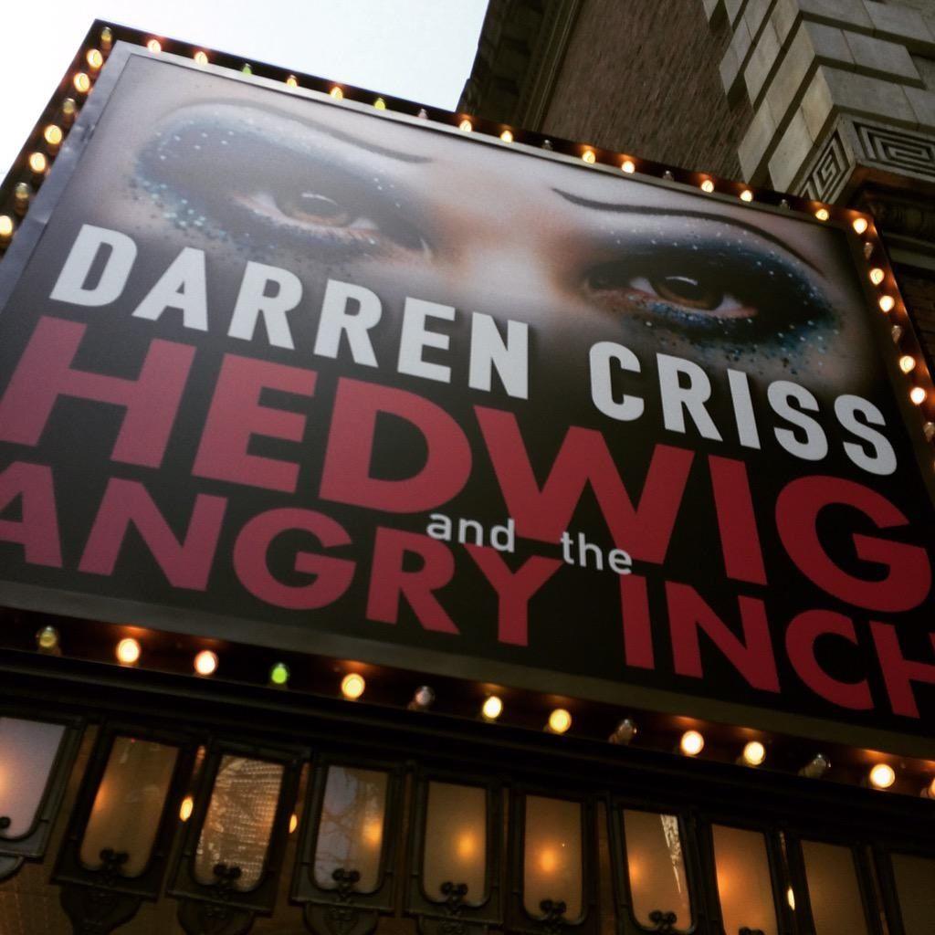 MichaelMayerDIR: Tonight's the night! @DarrenCriss @HedwigOnBway