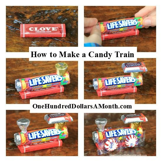 How To Make A Candy Train - Easy Kids Christmas Crafts | Candy ...