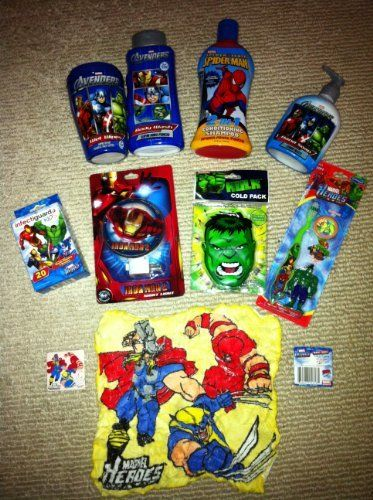 Marvel Avengers Characters Super Hero Squad Kids Bathroom Hygiene