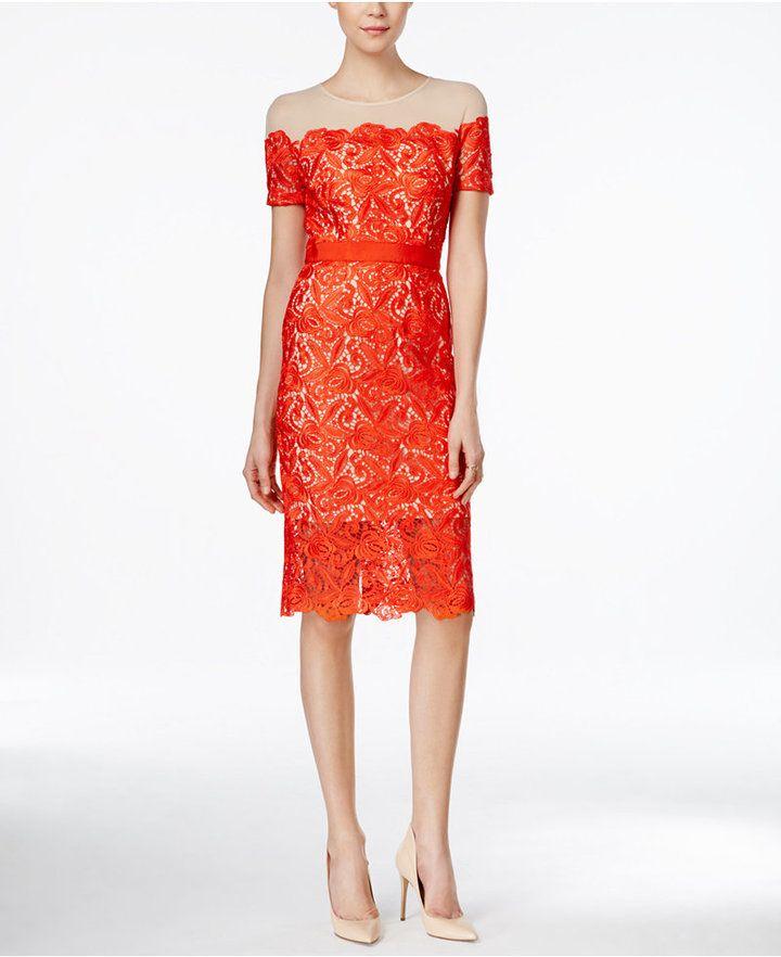 911b18c80e3 JAX JAX Illusion Lace Sheath Dress