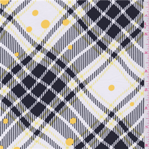 White/Yellow Plaid Lawn - 20186 - Discount Fabrics