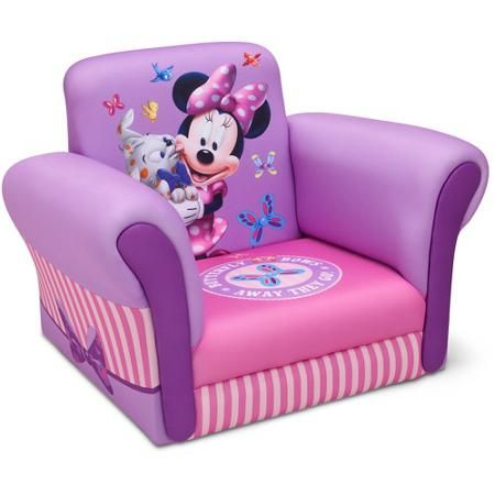 minnie mouse chair walmart renetto canopy disney upholstered exclusive