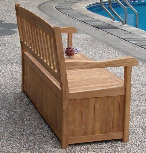 Teakstation Gradea Teak Wood Luxurious 5 Feet Bench With Storage
