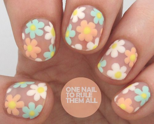 One nail to rule them all tumblr nail inspiration pinterest one nail to rule them all tumblr flower toe nailsdaisy prinsesfo Image collections