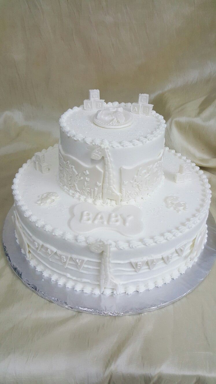 The Cakebox Bahamas All white, 2tier buttercream