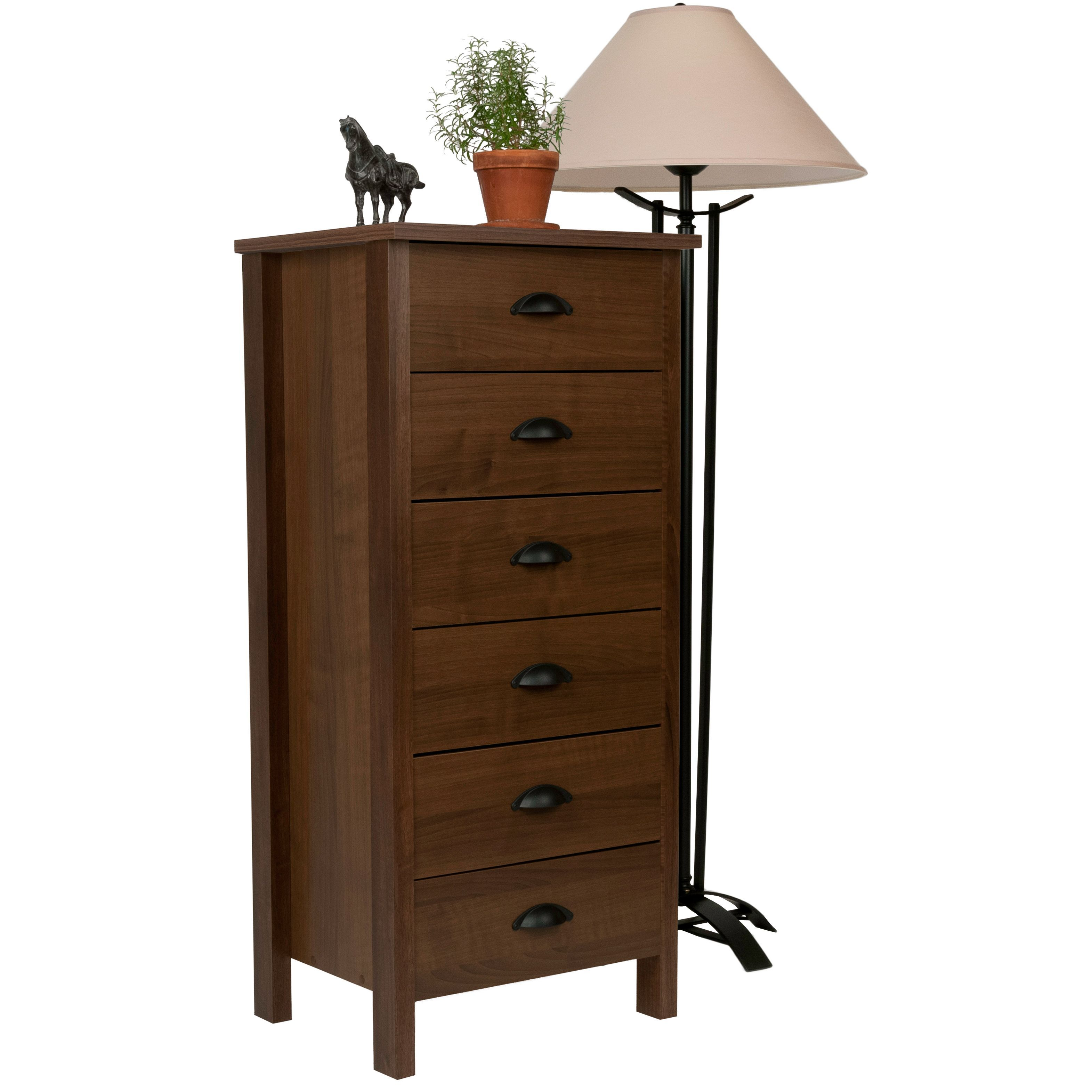 Store Your Socks And Shirts In This Classic Six Drawer Dresser From Venture  Horizon. This Walnut Colored Piece Of Furniture Has A Simple Design And Is  ...