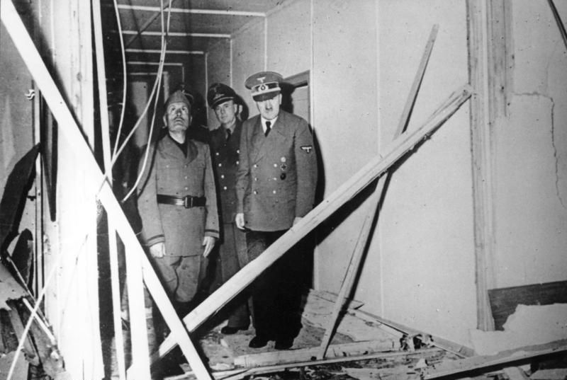 Image result for july 20, 1944 photo of damage from plot to kill hitler