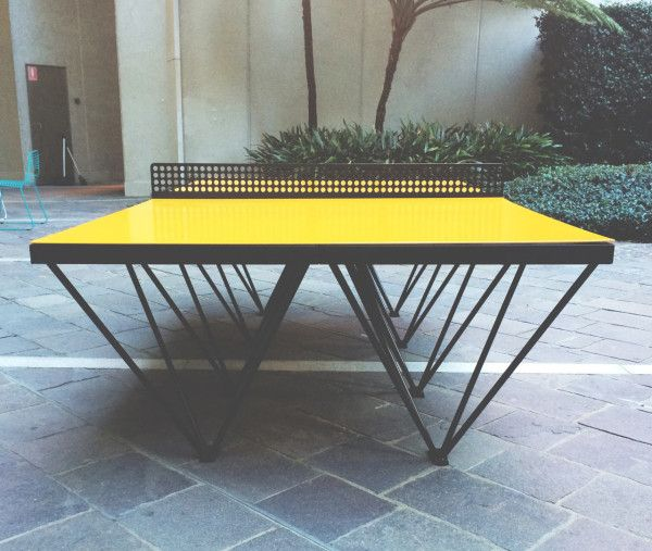 An Outdoor Ping Pong Table For Design Lovers Outdoor Ping Pong Table Ping Pong Table Modern Outdoor Furniture