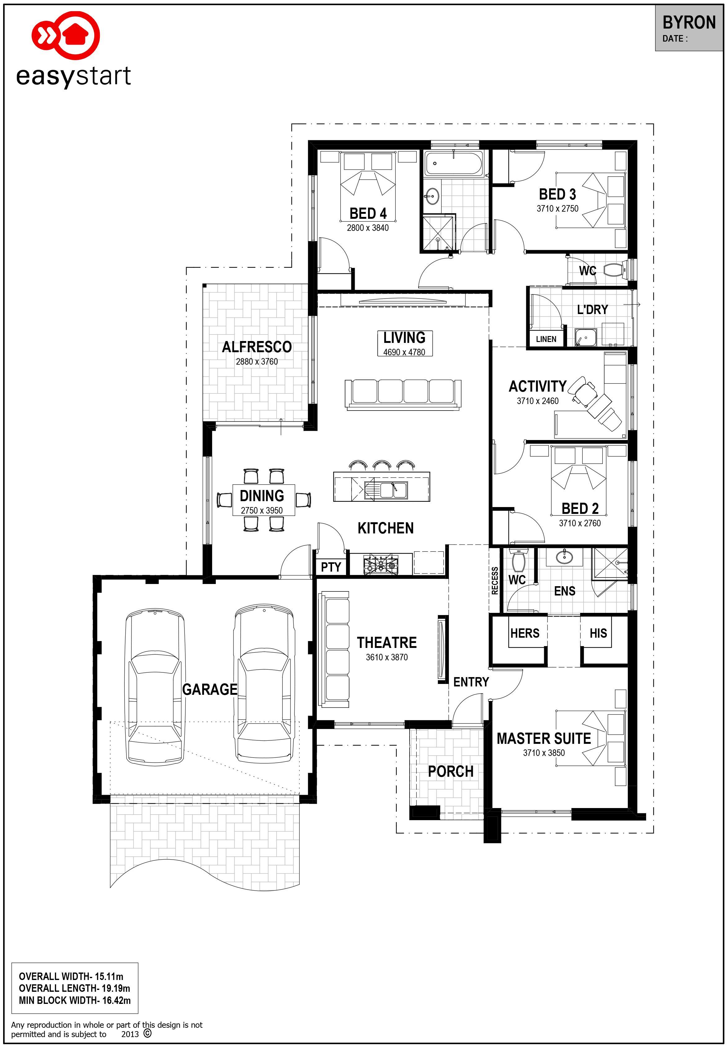 Byron Easystart Home Designs Perth House design