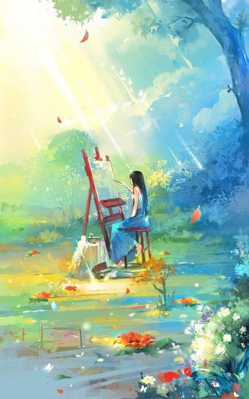 Beautiful And Art Image Anime Art Anime Scenery Anime Art Girl