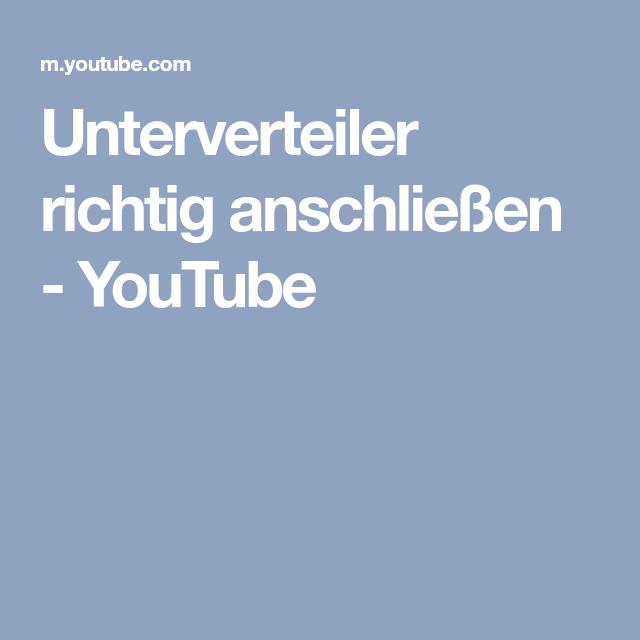 Unterverteiler Richtig Anschliessen Youtube Elektrotechnik Richtiger Youtube