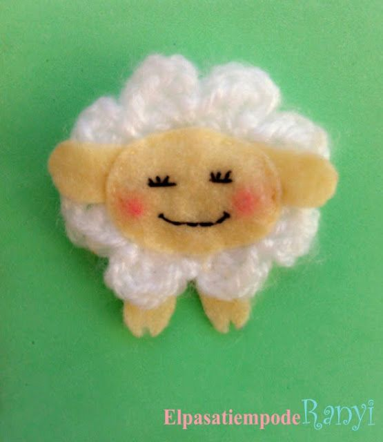 Broche oveja de crochet de El pasatiempo de Ranyi