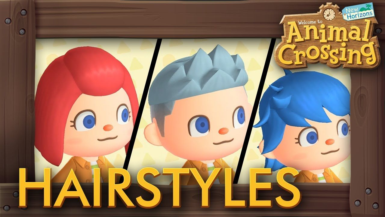 Animal Crossing New Horizons All Hairstyles Animalcrossing Animalcrossingcustomization In 2020 Animal Crossing All Hairstyles Animals