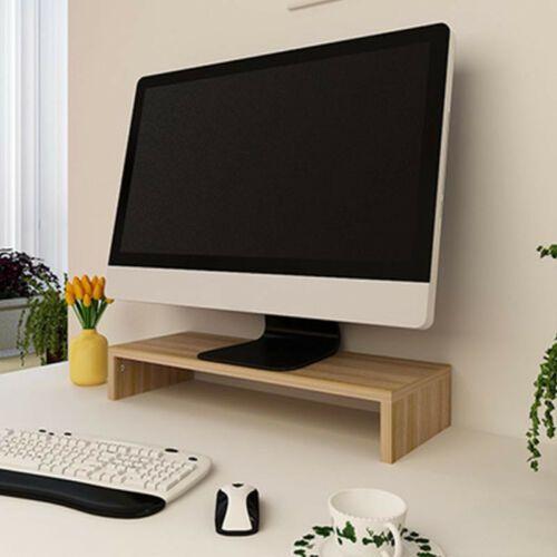 Computer Monitor Riser 3/'/' High 19.5/'/' Monitor Stand Wooden Desktop Stand Holder