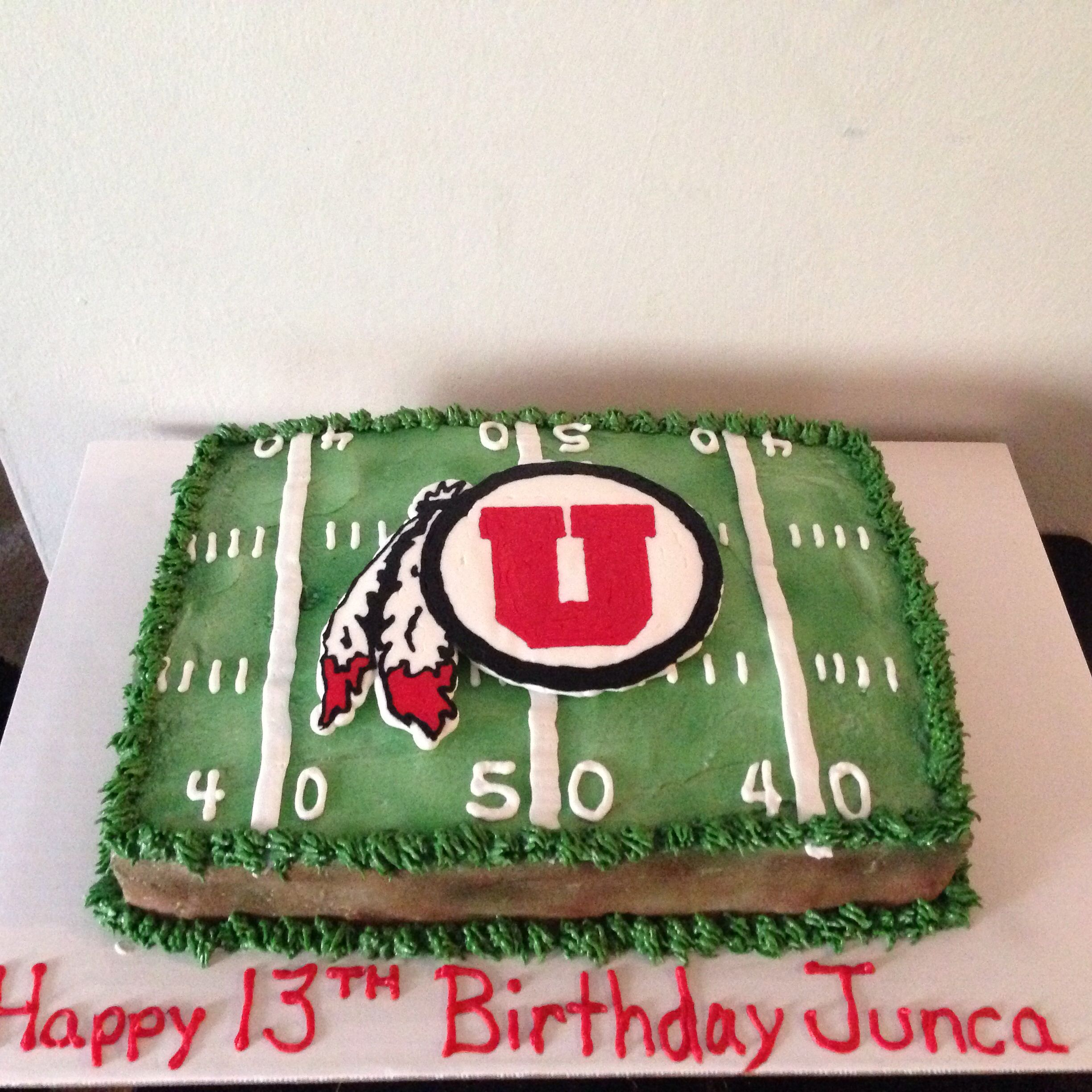 Utah Utes Football Birthday Cake