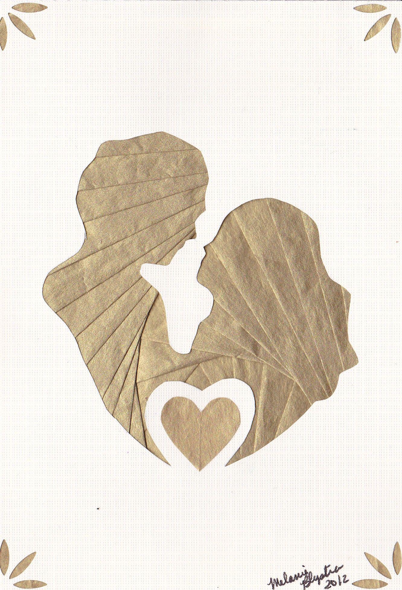 Iris folded couple | bryllup | Pinterest | Tarjetas, Tarjetas ...
