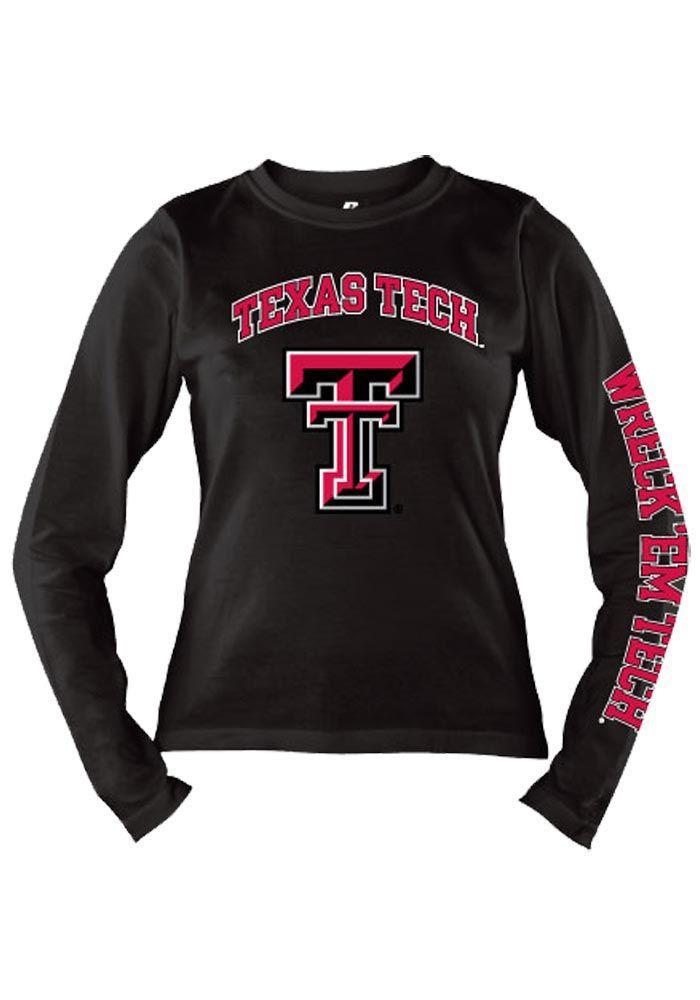 fb51f495 Texas Tech Red Raiders T-Shirt- Women's Black Front | Clothes ...