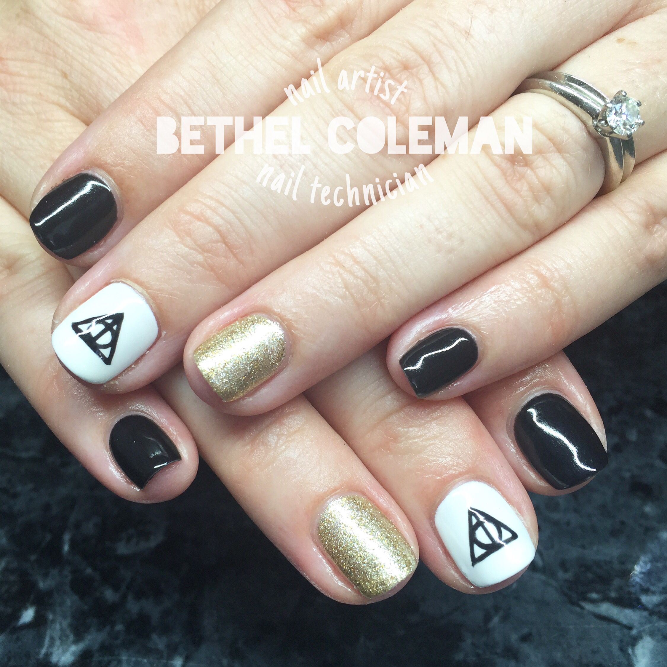Harry Potter Nail Art Gel Polish Free Hand Nails In 2018