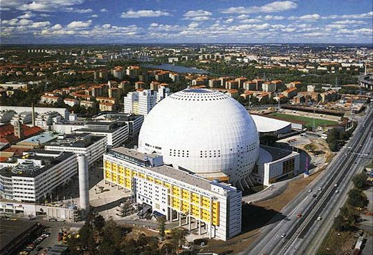 Globen, Stockholm, Sweden- largest spherical building in the world. Been there!