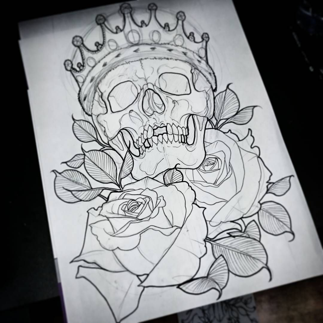 No Photo Description Available Skull Drawing Tattoo Skulls Drawing Skull Tattoo Design
