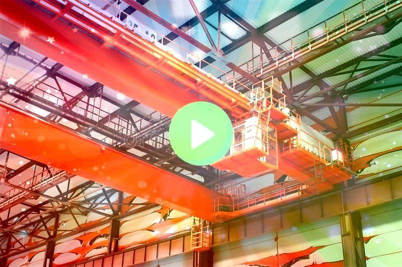 industrial crane Largetonnage industrial orange Goliath crane lo Largetonnage industrial crane Largetonnage industrial orange Goliath crane lo  Construction Big Modern Bu...