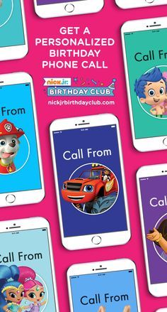 Join the Nick Jr Birthday Club and get a personalized phone call