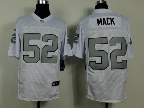 f050a8541ce ... Black Team Color Mens Stitched NFL Limited Strobe Jersey · Nike Nike  Oakland Raiders 52 Khalil Mack White With Silvery Elite Jersey ...