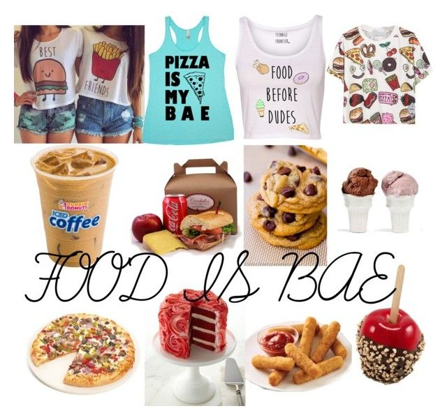 """""""Food is Bæ"""" by starbucks-cake ❤ liked on Polyvore featuring Sin and Fox Run"""