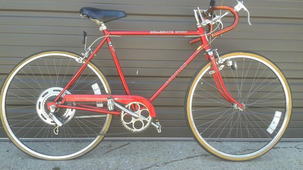 Vintage 1977 Men's Red Schwinn Collegiate Sport Bicycle 5