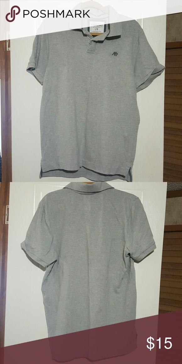 Men's large aeropostale Polo shirt Grey no stains no tears large Polo Shirt Aeropostale Tops Tees - Long Sleeve