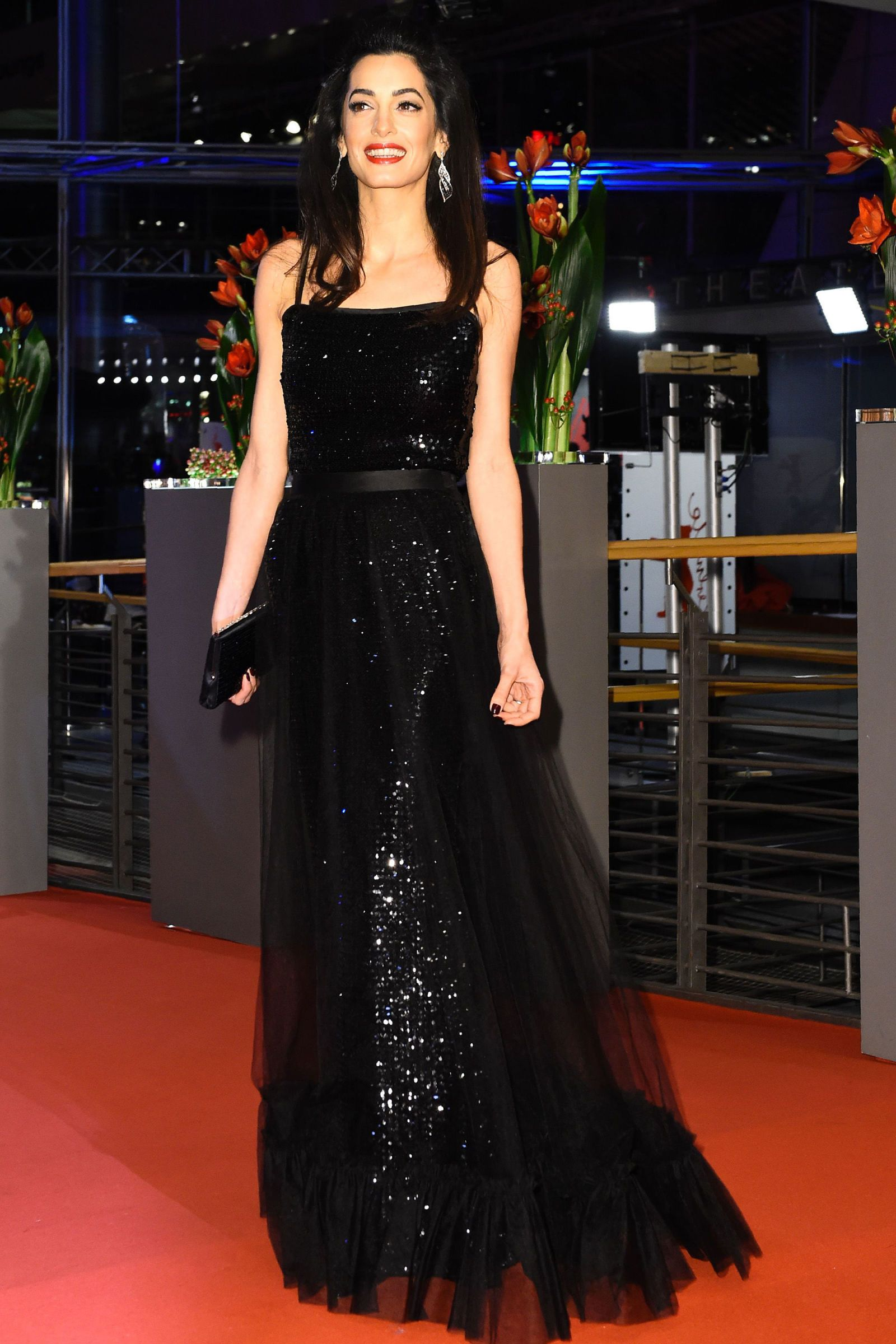 Amal Clooney Shines in Vintage Versace | Stylish, Amal clooney and ...