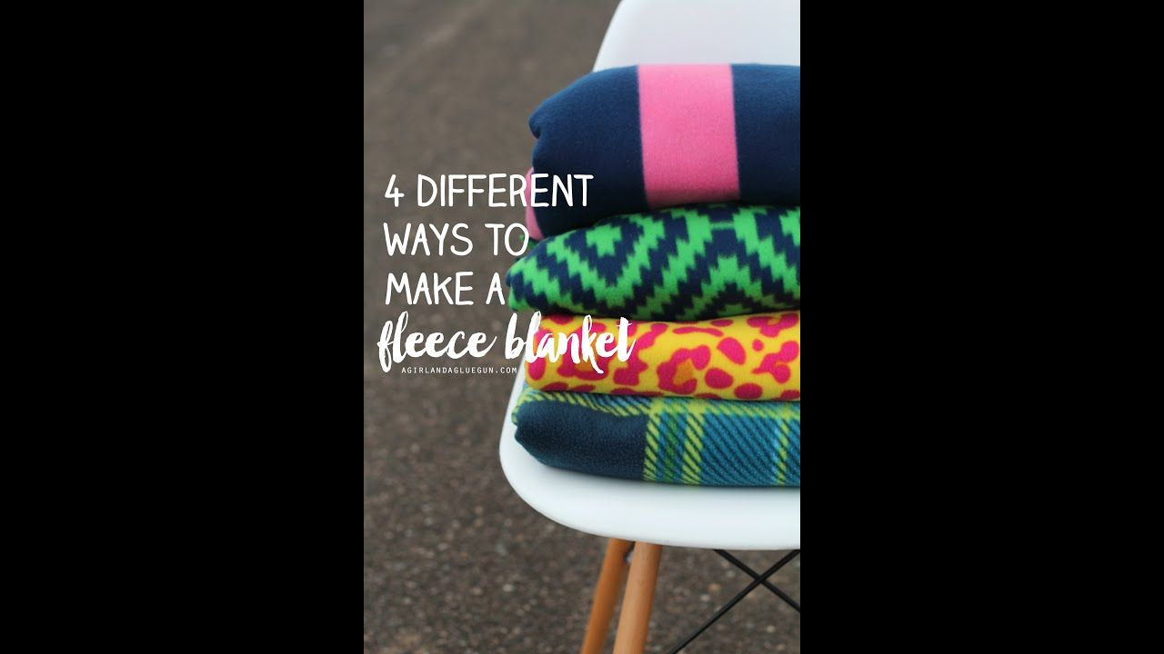 4 different ways to tie a fleece blanket and how to finish