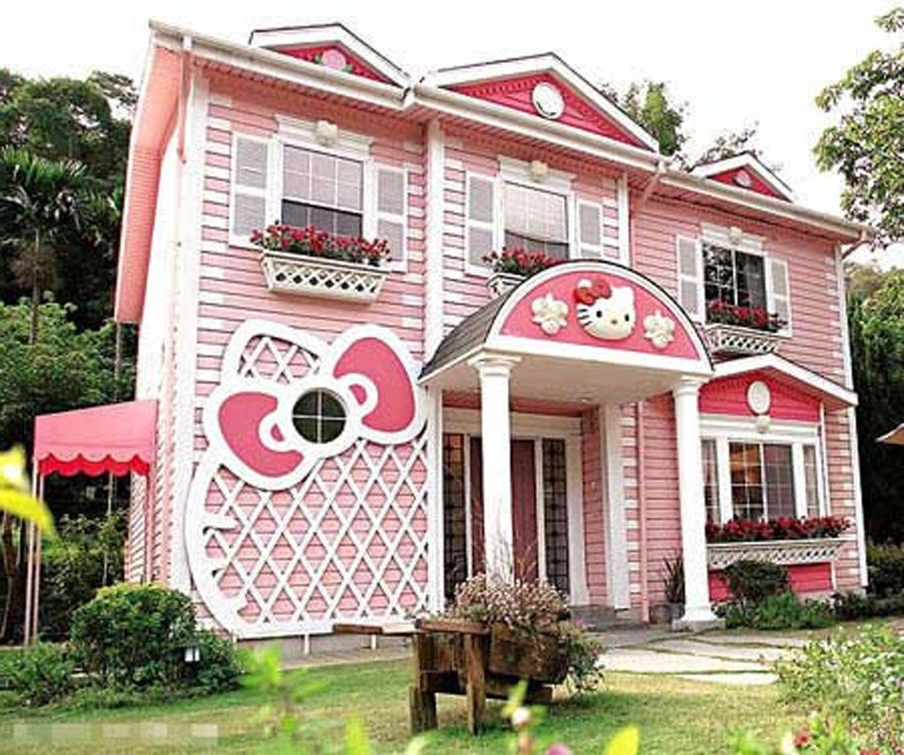 Hello Kitty Houses Real Houses surprising hello kitty house | exterior | pinterest | hello kitty