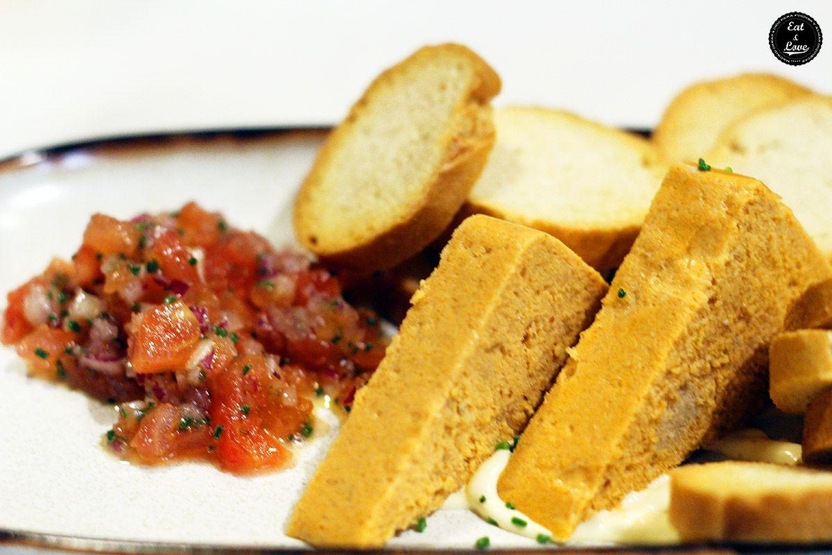 Pastel de cabracho restaurante sidrería La Bobia Madrid