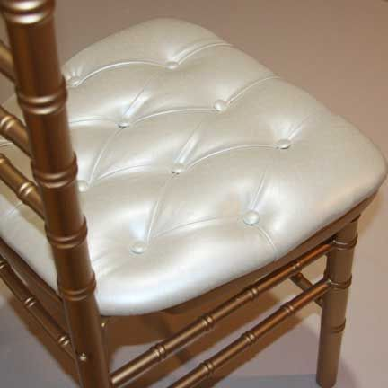 Chair Pad, Ivory Tufted| Linen Effects Party, Event, Wedding, Gala Rental  Décor  Minneapolis, MN | Chair Rentals #pearl #pad #seat #cushion