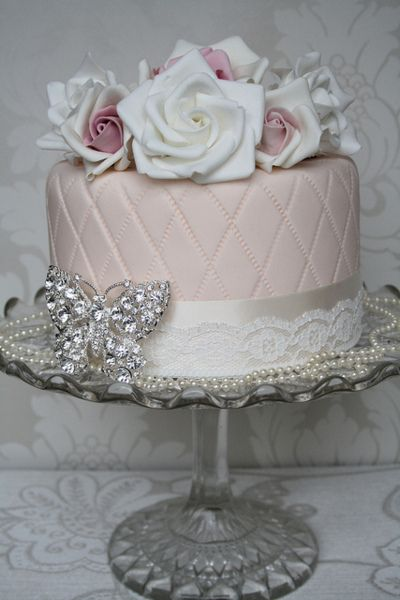 vintage butterfly and lace wedding cake can be used for the engagement party wedding shower bachlorette party or even the lingerie shower