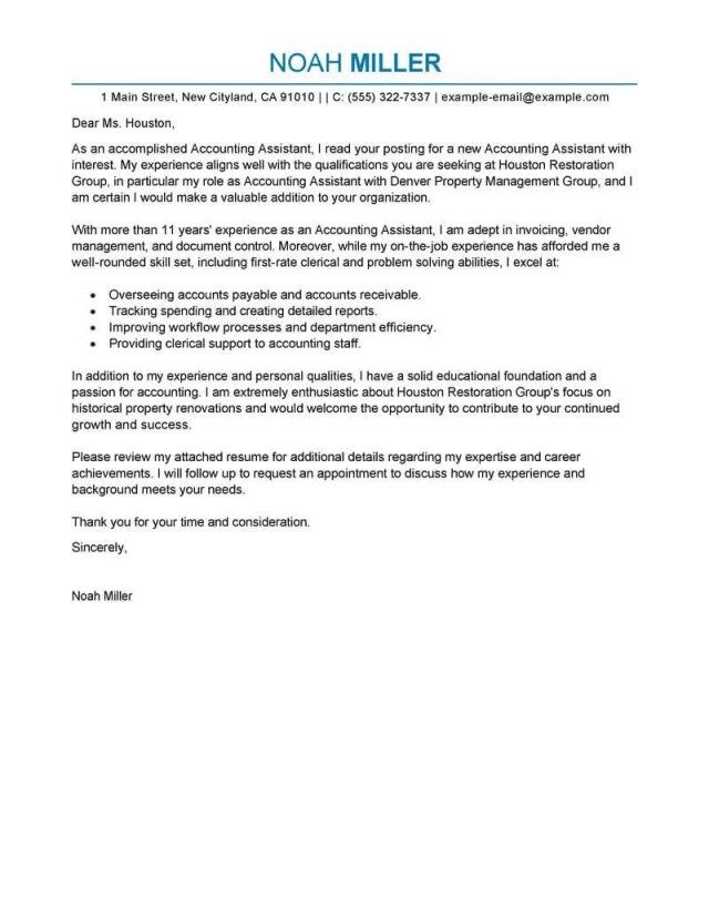 25+ Accounting Cover Letter Cover Letter Examples For Job Cv