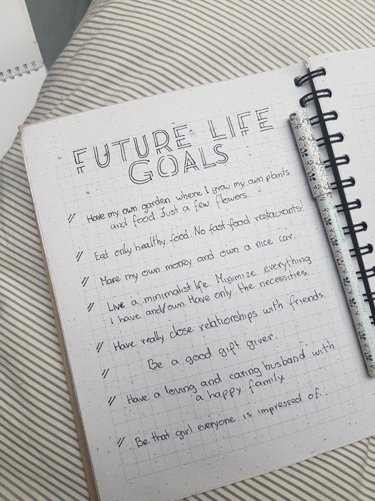 my goals for the future
