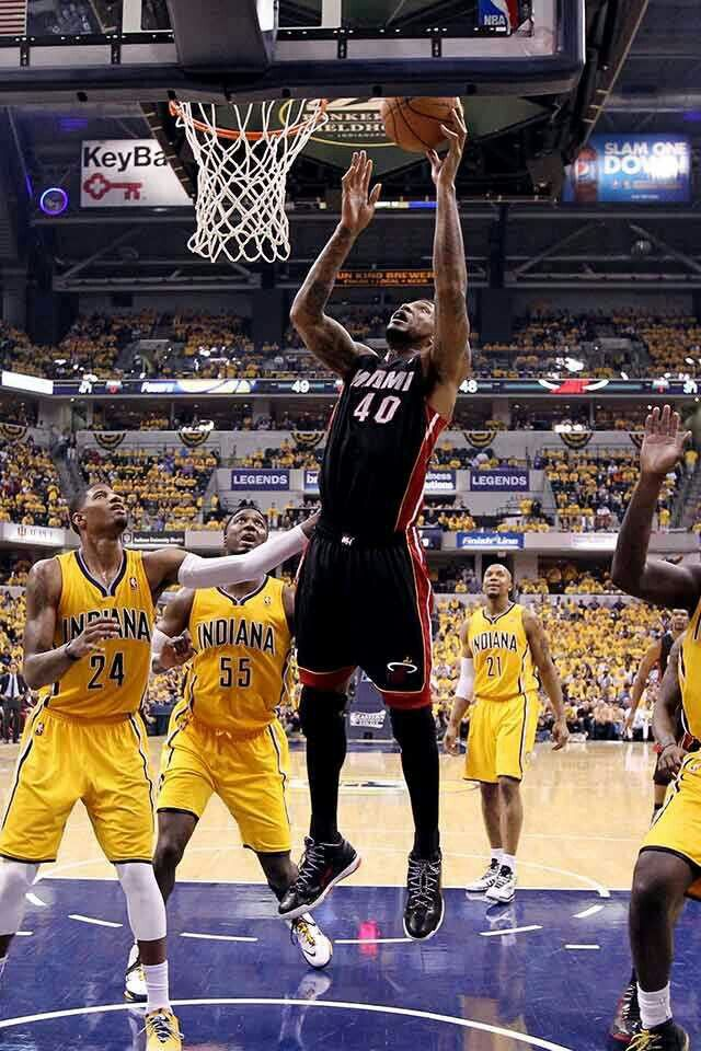 Udonis Haslem Heat vs Pacers Eastern Conference Finals