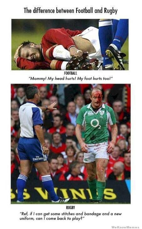 The Difference Between Rugby And Football Jpg 453 732 Pixels Rugby Memes Rugby Sport Rugby Vs Football