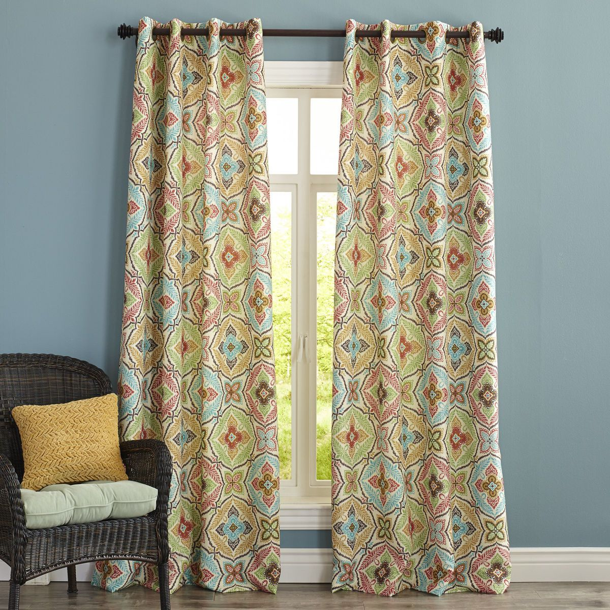Kaleidoscope Curtain  Pier 1 Imports  1805 South Park  Curtains Curtain patterns Grommet