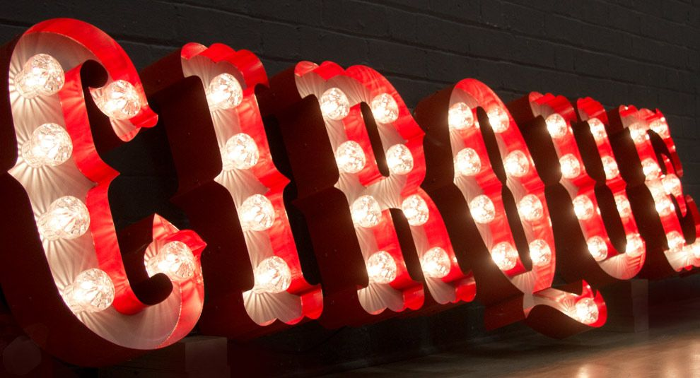 there are lighted letters like these at that would be cool to incorporate - Lighted Marquee Letters