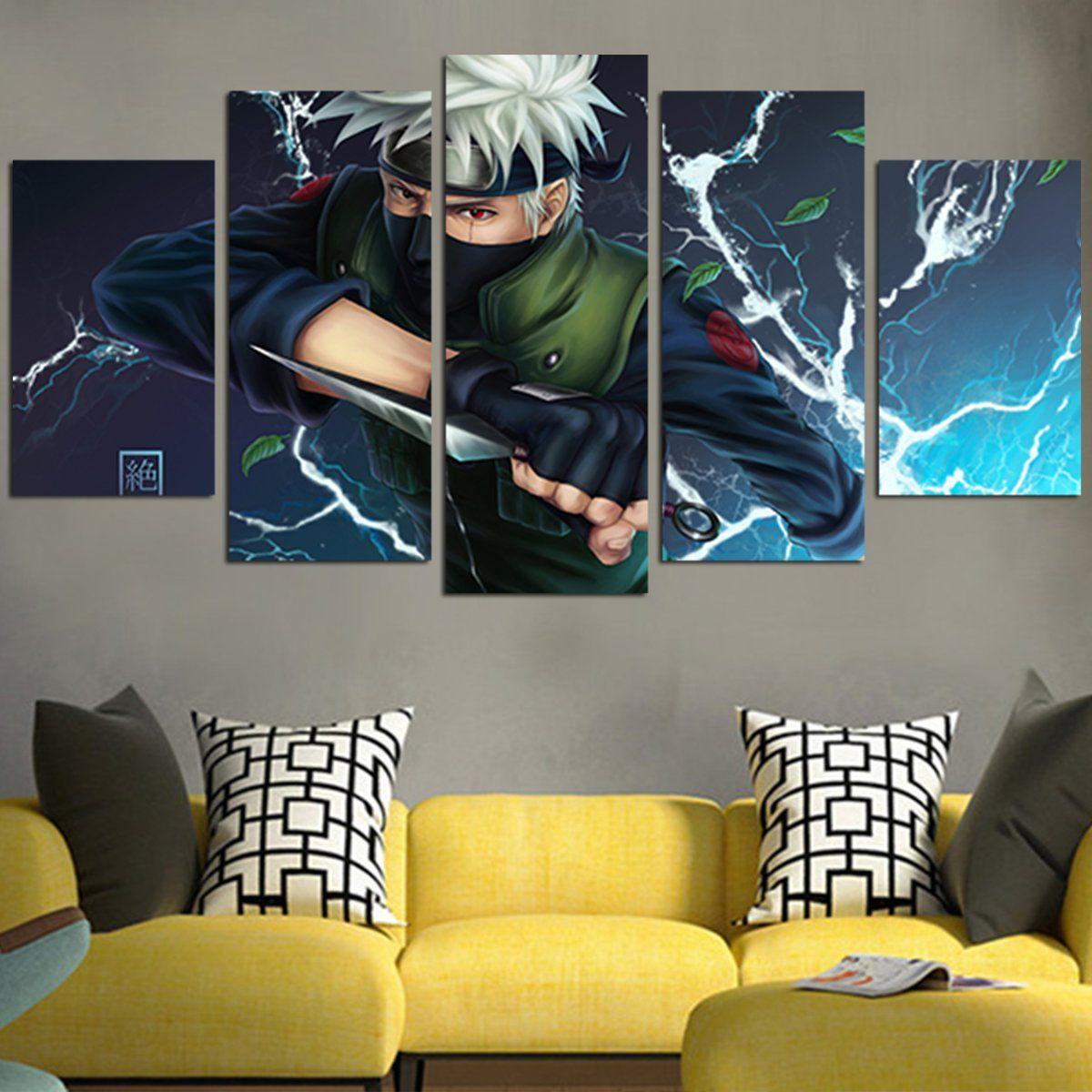 Naruto Kakashi Hatake Keren Terbaru Wall Art Canvas