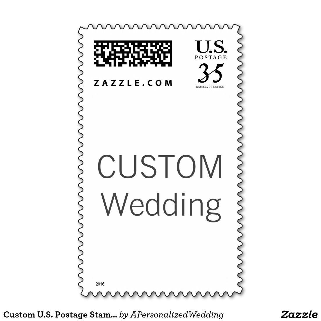Custom us postage stamp for a postcard