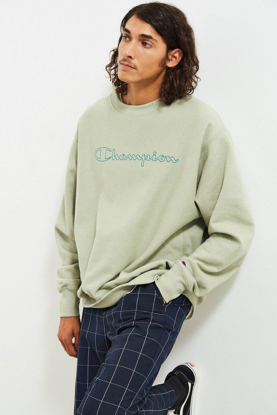 4c176cbeb Champion & Urban Outfitters Script Logo Crew Neck Sweatshirt | Urban  Outfitters