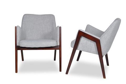 Jameson Lounge Chairs Mist Grey Set Of 2 Tb3 Home